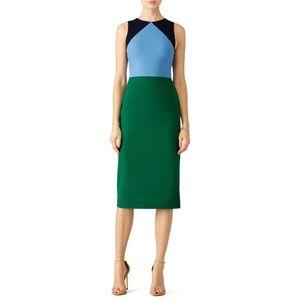 DVF Multi Colorblock Sheath Dress